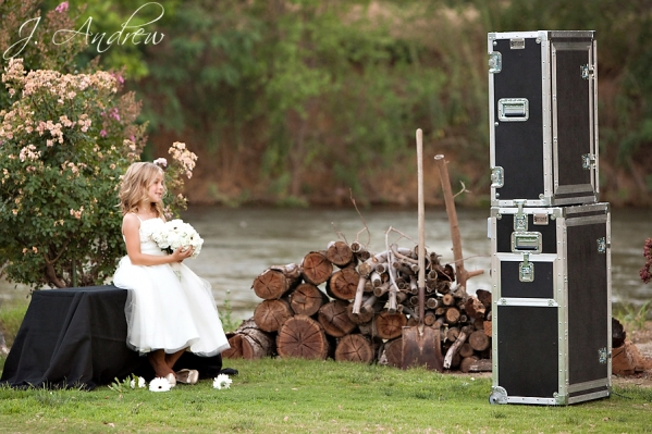 Open Air Photo Booth with Flower Girl