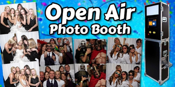 Open Air Photo Booth Rental from Sit N Grin