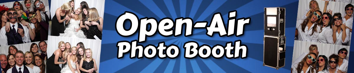 Open Air Phoot Booth with Fun Photo Strips