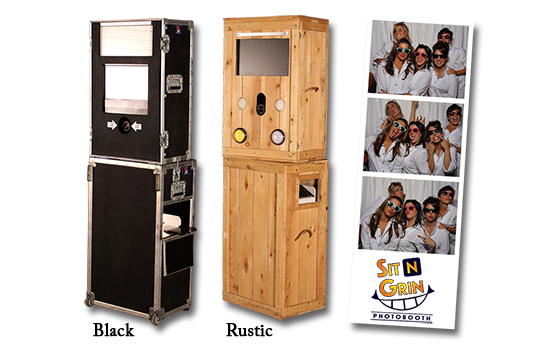 Open-Air Photo Booths - Black and Rustic Photobooth